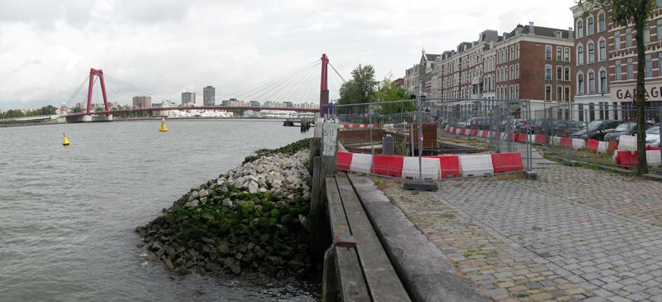 Foto Maaskade van eind september 2016 (Nils Hilbers)