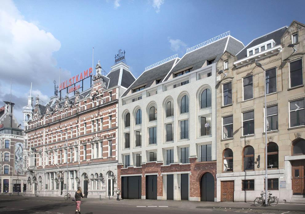 Impressie van het nieuwe pand aan de Maaskade © V8 Architects